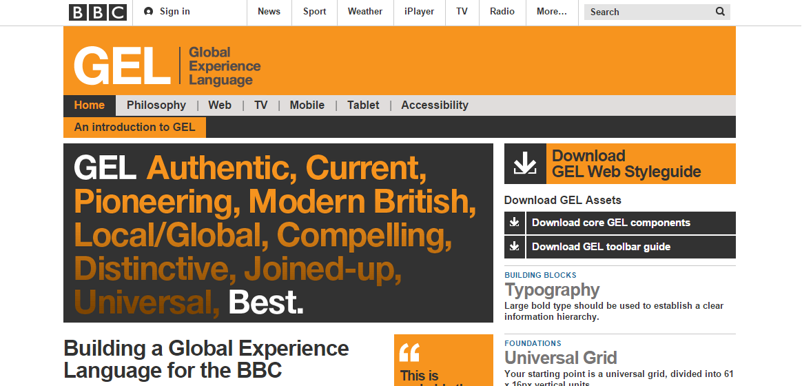 BBC Global Experience Language