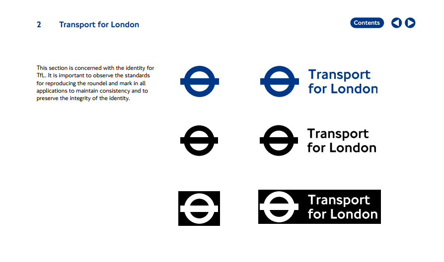 Transport for London brand manual