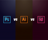 Quando si usa photshop vs illustrator vs indesign