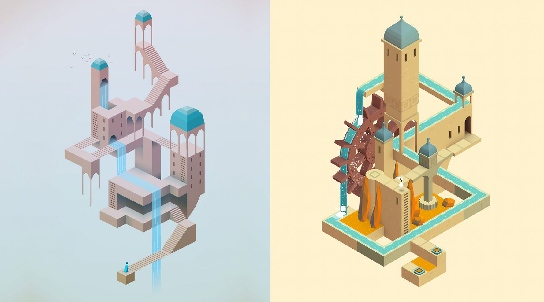 grafica 3d monument valley